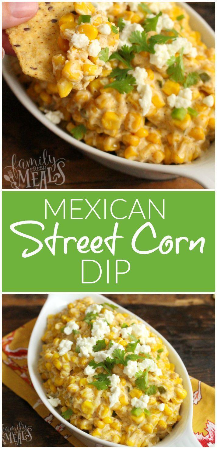 Mexican Street Corn Dip -PINTEREST- FamilyFreshMeals.com ---