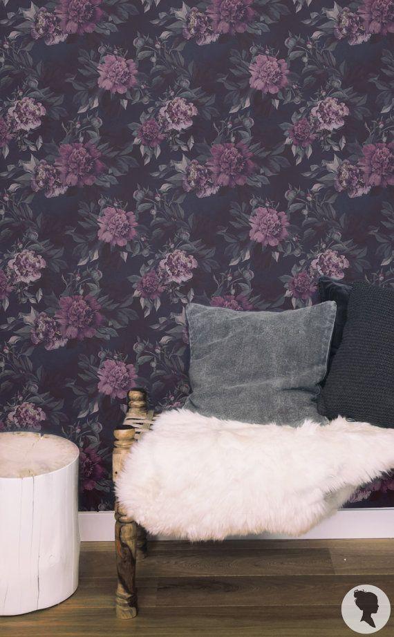 Watercolor Roses Wall Mural, Regular or Removable Wallpaper - L601