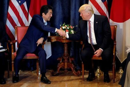 Trump, Abe confirm will increase pressure on North Korea: Japan government