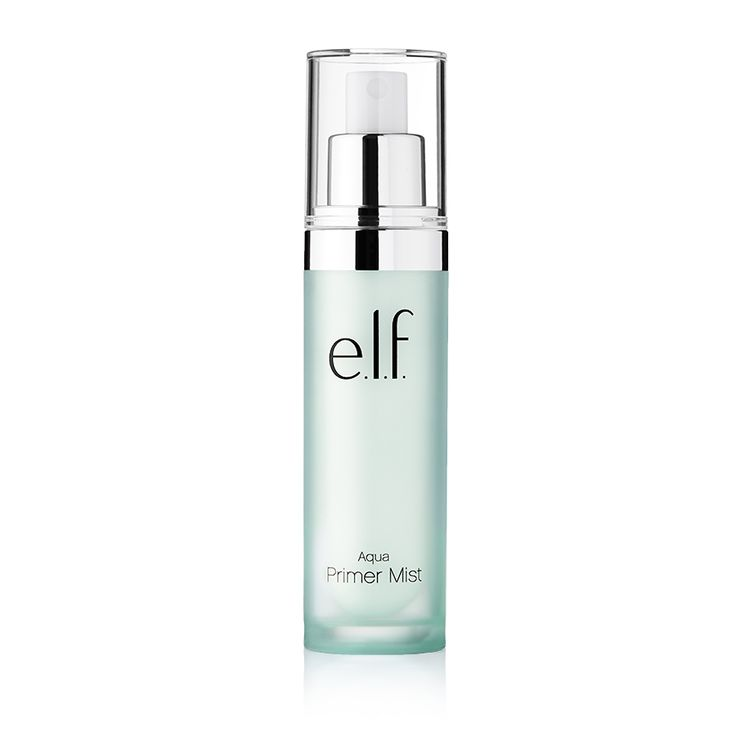Aqua Beauty Primer Mist | e.l.f. Cosmetics | $8 | A makeup primer spray enriched with Purified Water that helps prime, refresh, and set makeup in. This lightweight purified water spray helps soothe and hydrate the skin. Use prior to makeup application to help prime the skin, after makeup application to set makeup in, or throughout the day to refresh. Beauty Tip: For an extra revitalizing feel store mist in the refrigerator prior to use