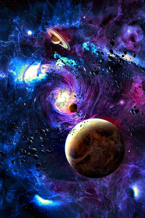 Astronomy outer space space universe stars planets nebulas asteroids psychedelic space - Galaxy and planets ...