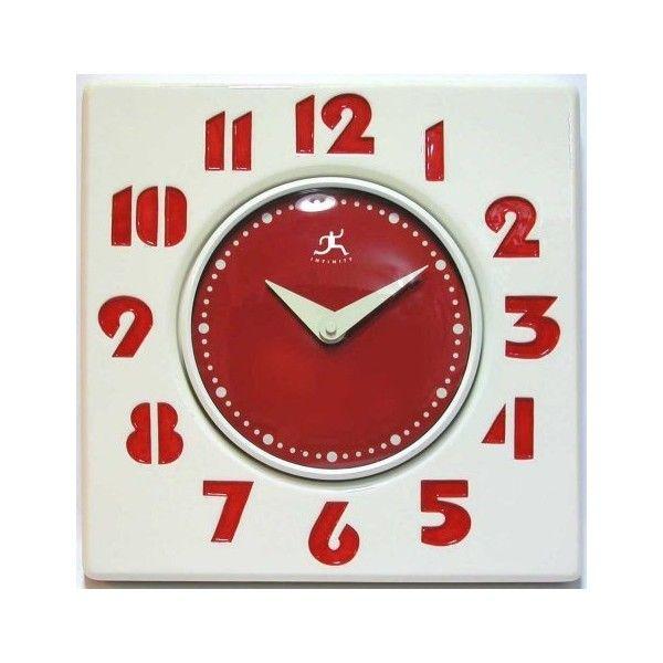 Retro Red U0026 White Diner Style Kitchen Wall Clock From Theisen Clock U0026.