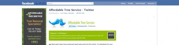 how to connect twitter and facebook page