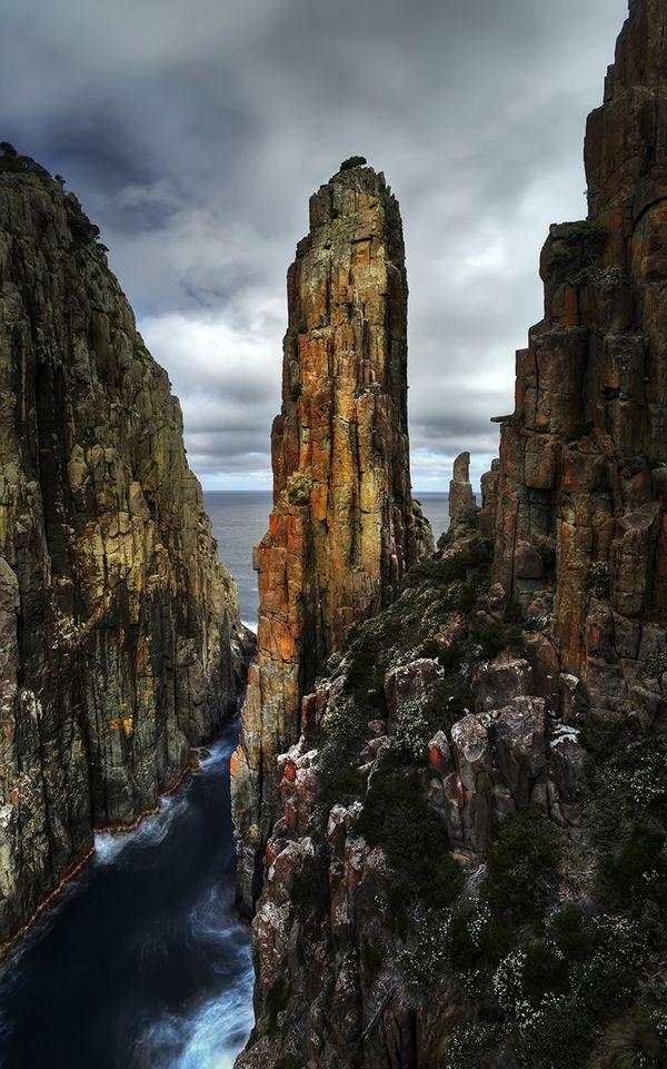 The dramatic cliffs of Cape Hauy, Tasmania.