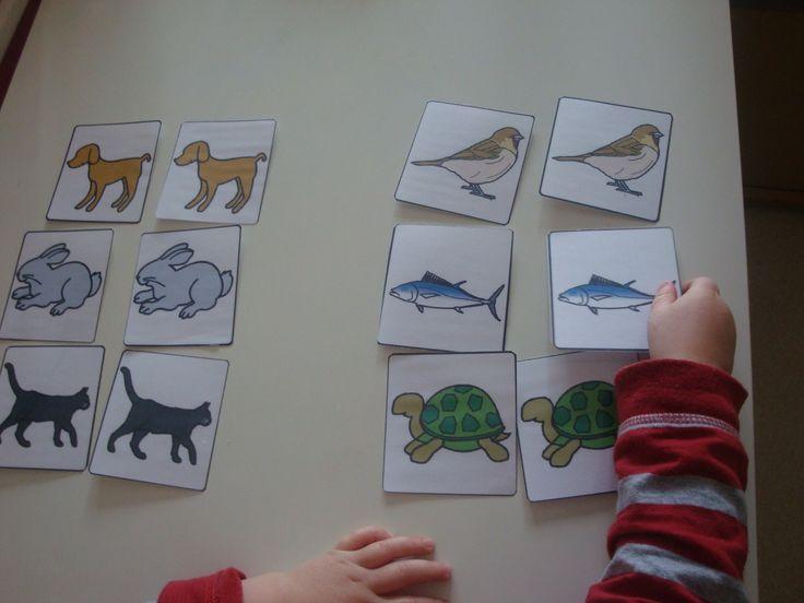 Correspondance figurines/cartes et mise en paires