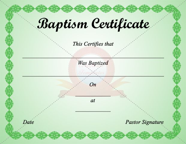 17 best images about baptism certificate templates on for Baptism certificate template pdf