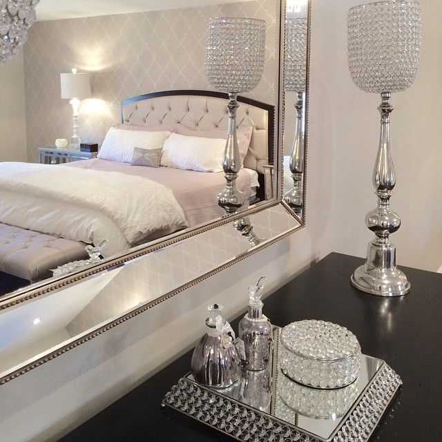 1314 best images about glamour and bling home decor on for Glamorous bedroom pictures