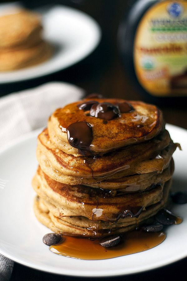 holiday breakfast | gingerbread chocolate chip pancakes #pancakes ...