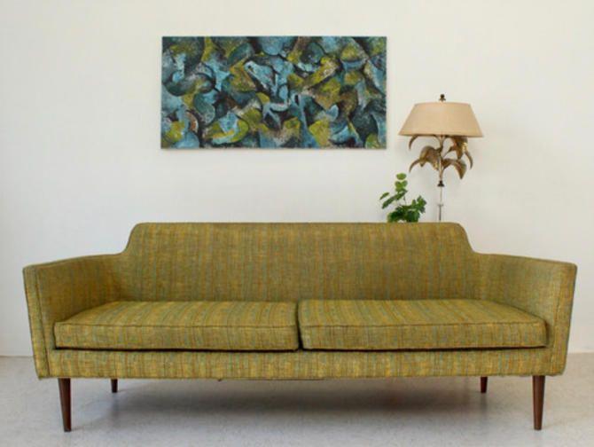 Vintage Green Mid Century Sofa From Sunbeam Vintage Of Highland Park Los Angeles Ca Attic Mid Century Sofa Vintage Green Mid Century