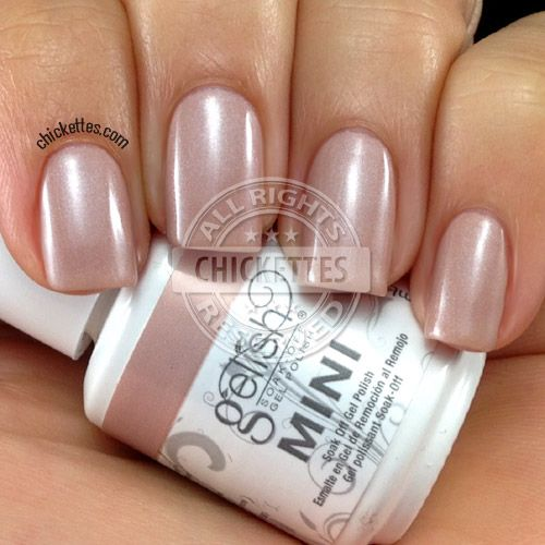 Gelish Skinny Vanilla Latte Swatch - tan with mauve but fades to lose all mauve :-(