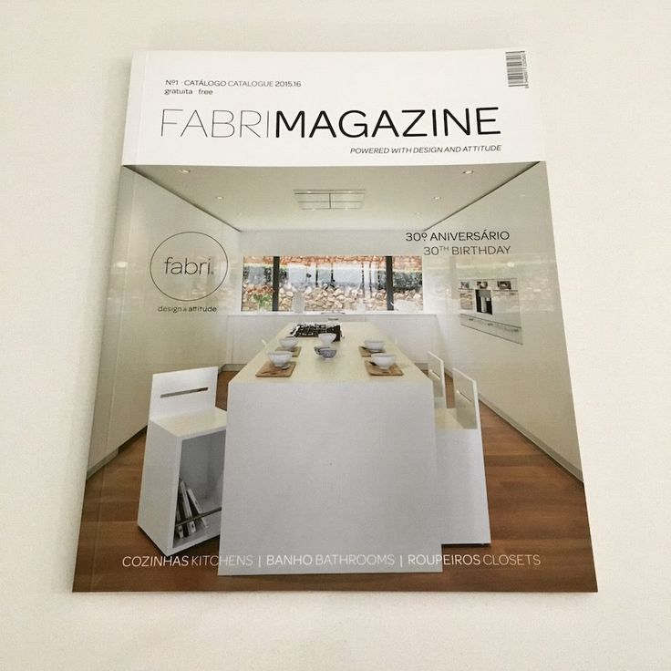 Our catalogue, designed in a magazine format. #FabriDesignAttitude