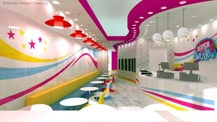 Restaurant Interior Design and Branding - Burlington, in Ontario, Canada - Super Swirls Yogurt Shop Design