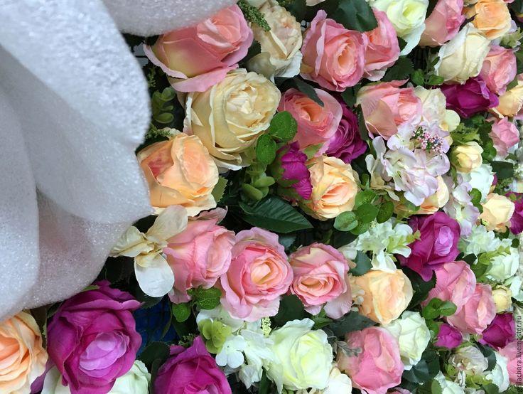 Купить Цветочная стена (фотозона) - фотосессия, фотозона, фотозона на свадьбу, свадебный декор, свадебный декоратор