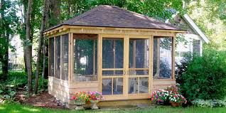 Image result for unique screened in gazebos
