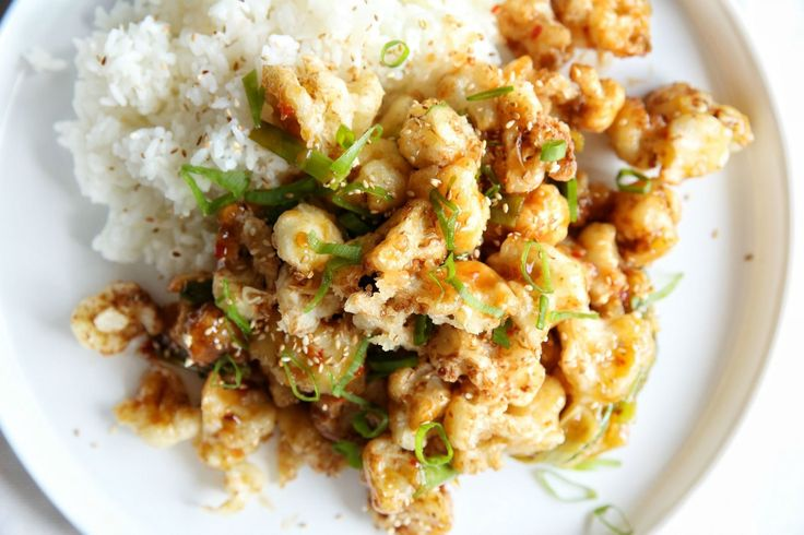General Tso's Cauliflower with Rice