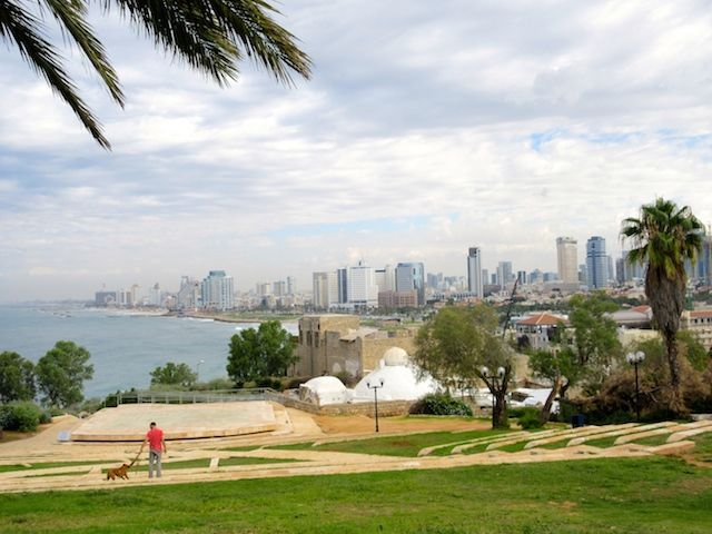 One day in Old Jaffa Tel Aviv, view from Peak Park