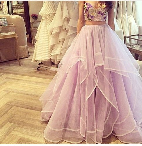 Ulass Prom Dresses Two Piece Prom Dress Sweetheart Prom Dresses Beautiful…