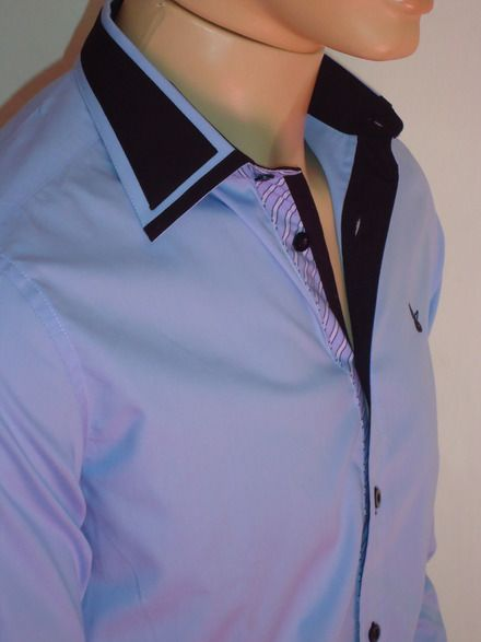 camisa social masculino preta com detalhes azul - Pesquisa Google