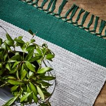 Teppe KONTRAST grønn/grå