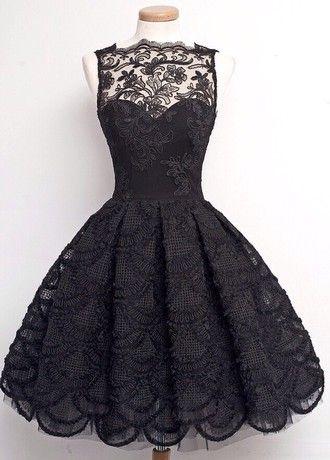 платье Черное платье кружевное платье