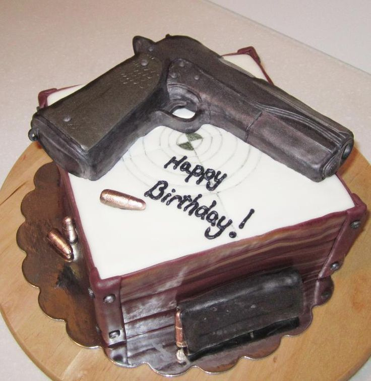 For the gun enthusiast's cake! | Just Get Baked Cakes ...