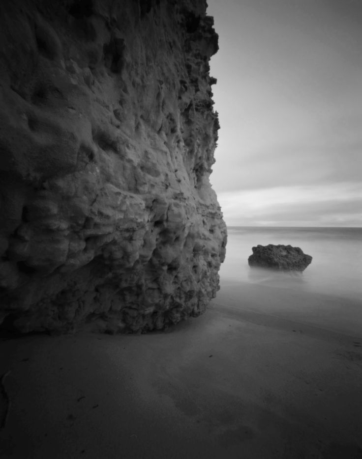 Rocky Point. Silver gelatin photograph from 4x5 pinhole negative.