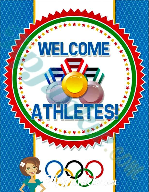 Use these free printable winner podium signs for an Olympic birthday party or any other sporting event. The three winners podiums don't have to be elaborate. Simply attach these first place, second place, and third place signs onto what's available for your Olympic Gold Medalists award ceremony.Free File Here:
