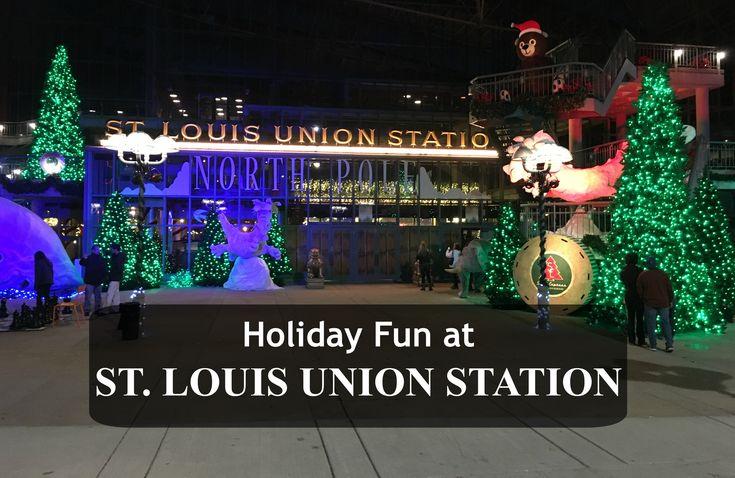 Visit St. Louis Union Station for Santa's Express train, North Pole Village activities & skating in Glacier Park.
