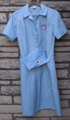 Vintage WWII American Red Cross Volunteer Nurse Uniform with Cap