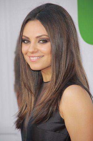 mila kuniss ted premiere hairstyle celebrity beauty breakdown