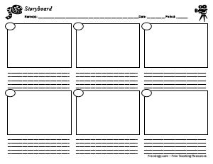 Love this idea to let kids demonstrate their knowledge.  A simple storyboard form can be used to retell a story's main events, plan before writing a story, plan for a film, and much more. Print two sheets and copy back-to-back for longer stories.