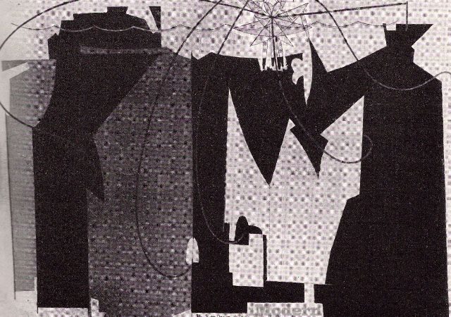 """Man Ray: The Rope Dancer Accompanies Herself with Her Shadows    1916. Oil, 52 x 73 3/8"""""""
