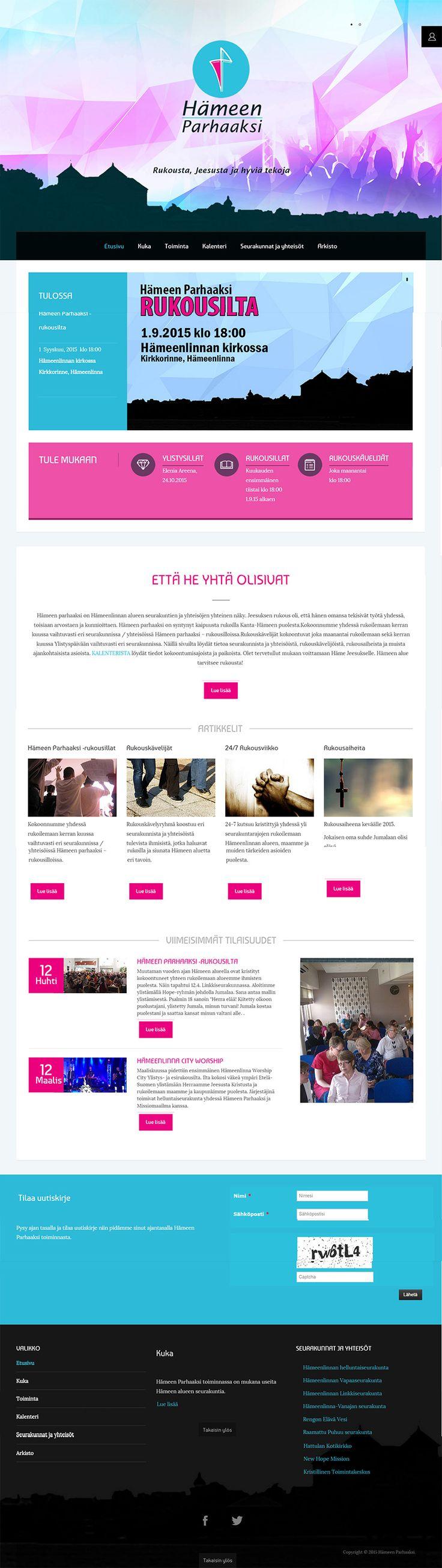 Hämeen Parhaaksi -nettisivusto suunniteltiin ja rakennettiin Joomlashinen valmista teemaa kustomoiden asiakkaiden tarpeiden mukaisesti.