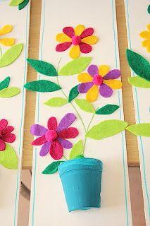 Les ateliers ARTiFun - ateliers créatifs en Guadeloupe - scrapbooking décopatch bricolage peinture: Un joli pot de fleurs en feutrine