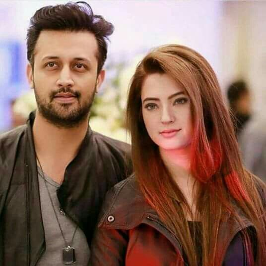 Atif aslam nd his cute wife
