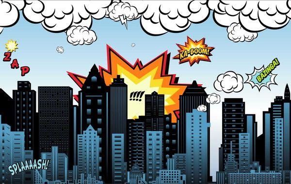 Painel Cidade Herois G Frete Gratis Cidade Desenho Festa De