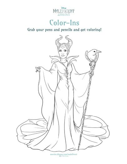 Disney Maleficent Printable Coloring Sheet