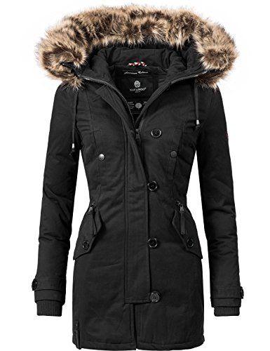 Navahoo Damen Baumwoll Winterparka Winterjacke Pauline (vegan hergestellt)  5 Farben + Camouflage XS- 1867119c21