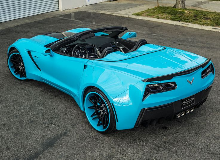 Jaw-dropping! This Custom Wide Body Chevrolet Corvette Stingray is one in a million.  Click the image to find out more. #carporn #spon