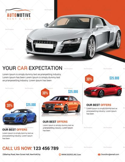 Automotive Car Sale Flyer Template Car flyer Sale flyer, Flyer