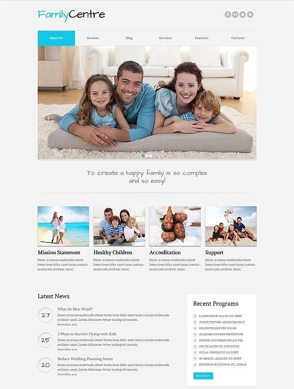 Family Centre Joomla Template
