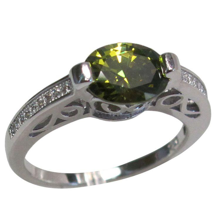 Elegante 2 Quilates Oval corte Peridoto 925 STERLING SILVER RING Size 5-10 | Joyería y relojes, Joyería fina, Anillos finos | eBay!