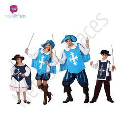 Disfraces para Grupos de Mosqueteros Azul En mercadisfraces tu tienda de disfraces online, aquí podrás comprar tus disfraces para Carnaval o cualquier fiesta temática. Para mas info contacta con nosotros http://mercadisfraces.es/disfraces-para-grupos/?p=7