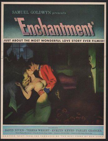 1949 ENCHANTMENT Movie - David Niven - Teresa Wright - Samuel Goldwyn VINTAGE AD