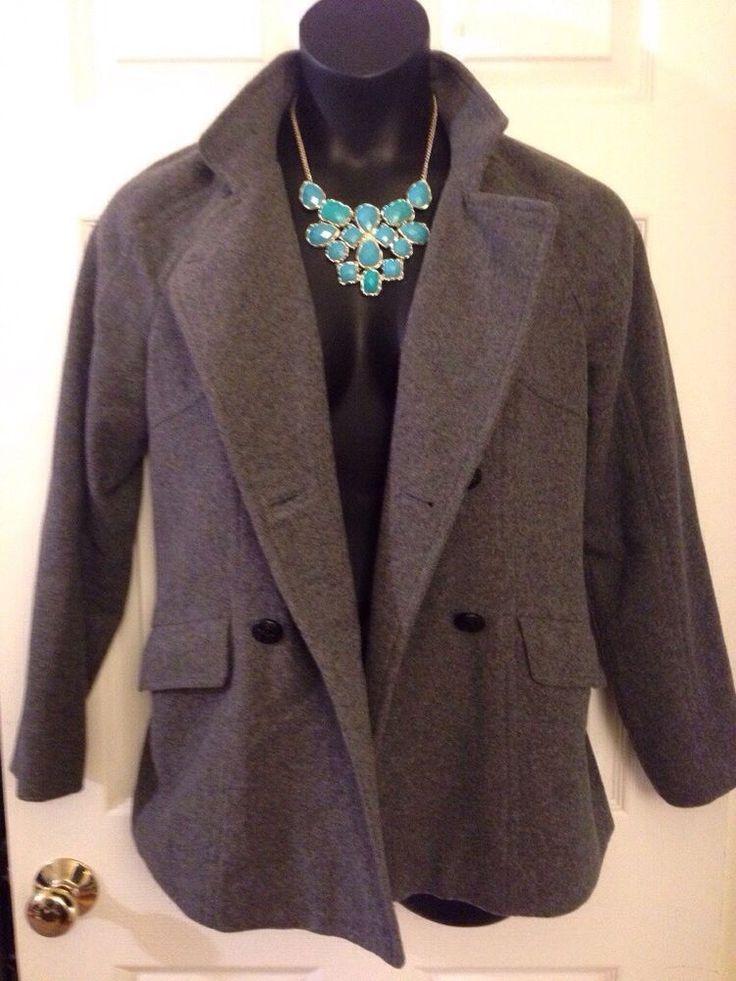 Women's Banana Republic Gray wool pea coat size Medium EUC