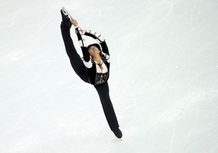 Michael Christian Martinez of Philippines performs during the Men's Short Program of the Figure Skating event. Seventeen-year-old Michael Christian Martinez is the first figure skater from the Philippines and the first skater from any tropical country to compete in the Olympics.