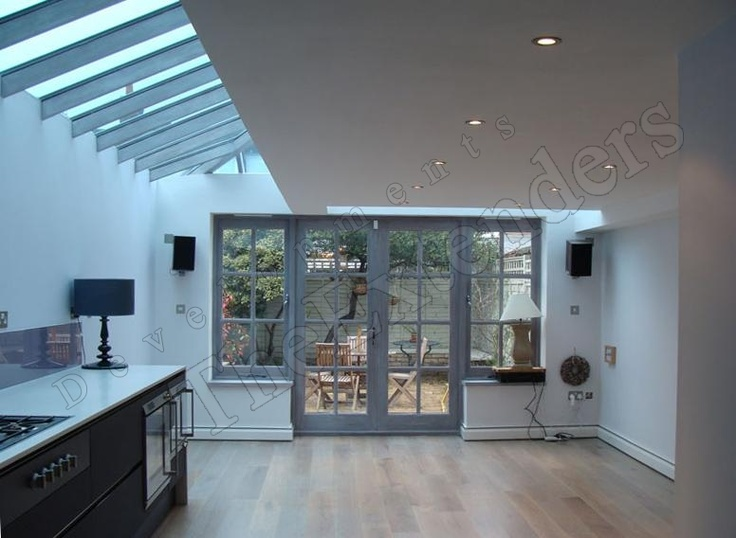 Extension With French Windows Spot Lights And Part Glass