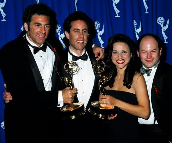 Pin for Later: Relive the Star-Studded Emmys' Most Exciting Moments!  The cast of Seinfeld celebrated their 1993 outstanding comedy series win together.