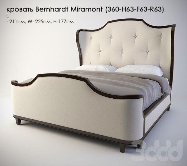 кровать Bernhardt Miramont (360-H63-F63-R63)