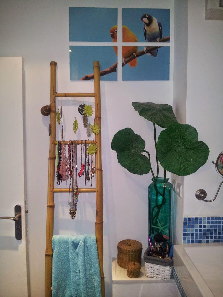 salle de bain decoration tropical zen bleu turquoise Nali